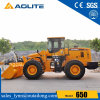 Factory Price Small Lifting Wheel Loader 650 with Rock Bucket