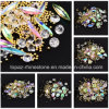 Jewelry Box Christmas Mixed Diamond Rhinestones Mini Beads Cross Gemstone Circle 3D Nail Art Glitter New Crystal Nails Decorations (NA14)