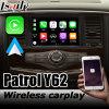 Wireless Carplay Android Auto Interface Box for Nissan Patrol Y62 Armada Youtube Play