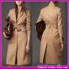 2015 Newest Fashion Lady Long Cashmere Single-Breasted Belt Trench Coats and Jackets for Women (WQ007)