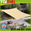 Garden Beige Color Sun Shade Sail for Car Parking
