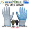 Work Gloves, 13G Polyester Shell PVC Dots Coated Gloves (D3101) with CE, En420