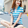 Fashion 100% Cotton Golf Custom Striped Polo Shirt