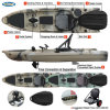 The Top Design Single Fishing Kayak with Paddle