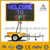 Optraffic ODM SGS En 12966 WiFi Solar Power 5 Colour Full Color Mobile Vms Trailer Mounted Variable Electronic Message Sign Board