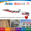 Jwell-PVC PP Plastic Siding Plate Recycling Agricultural Making Extrusion Machine Applied in House Office Building Villa and Wall Protection