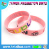 Pink Ribbon Debossed Silicone Bracelets/Wristbands for Breast Cancer