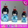 2015 Newest Fashion Wooden Geisha Doll for Kids, Best Wooden Gifts Geisha Doll, Mini Japanese Geisha Girl Doll in Kimono W06D070b