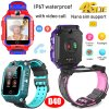 Thermometer 4G/Lte Rotatable GPS Tracker Watch with Heart Rate Blood Pressure D40