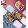 Plastic Leakproof Bento Box Compartment Stainless Steel Lunch Box for Office or School