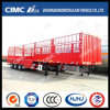 Cimc Huajun 3 Axle Stake/Carog Semi Trailer with 1800mm Upper Body