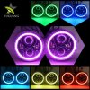 Waterproof IP67 High Low Beam Halo Ring Changing Colors RGB 7 Inch LED Round Headlight for Jeep Wrangler