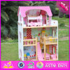 2016 Wholesale Kids Wooden Big Dollhouse, Beautiful Baby Wooden Big Dollhouse, Popular Children Wooden Big Dollhouse W06A163