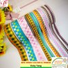 Check Ribbon Woven with Color Yarns From Factory Made