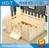Unfinished Double Layers Solid Wood Dog Infant Houses