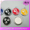 Promotional Gifts Metal Cheaper Round Paw Dog ID Tag
