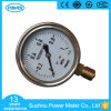 Ytn-75A Bottom Type Pressure Gauge with Brass Connection and 1 MPa Pressure Range