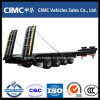 Cimc 4 Axles Low Bed Semi Trailer 80 Ton