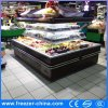 4 Side Open Dairy Showcase Cooler for Supermarket