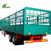 3 Axles Truck Flatbed Stake House Bar Fence Semi Trailer