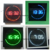 Wall Hanging Elctric Four Color Circling LED Digital Time Clock
