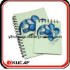 Latest Engraving PVC Cover Notebook with Spiral Binding