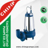 1.1kw/1.5HP Stainless Steel Casing Cast Iron Cutting Impeller Sewage Submersible Pump for Dirty Water