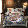RTS Leopard Design Famous Brand 4PCS Set Bedding Fitted Sheet