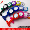 Yxl-951 Nurses Fob Pocket Watches Fashion Medical Nurse Watch for Girl Boy Women Men Resistance Nurse Fob Watch Brooch Pin Silicone Cover