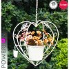Garden Decoration Heart Shape Metal Hanging Planter Pots