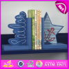 2015 Brand New Wooden Star Bookend, Hot Sale Wood Star Bookend, Lovely Bookend Star Wooden W08d049