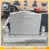 Classic American Style Grey Granite Single Upright Monument