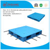 Warehouse Products 1100*1100*150mm Heavy Duty HDPE Plastic Pallet Flat Double Sides 1.5t Rack Load Plastic Pallet with 8 Steel Tubes