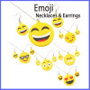 Fashion Zinc Alloy Emoji Necklaces and Earrings Jewelry Set