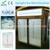 Upright Ice Merchandiser Display Freezer Wtih Lightbox
