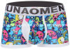 New Print Design Cotton Men′s Boxer Brief Underwear with Eco Permit
