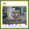 G664 Red Granite Heart with Angle Monument&Tombstone