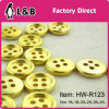 Cheap Price Classic 4 Holes 18L Gold Plastic Button