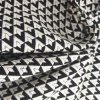 Fashionable Black and White Diamond Jacquard Fabrics