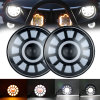 7 Inch 60W Round LED Headlight with Halo DRL Turn Signal for Jeep Wrangler Harley Davison Motorcycle