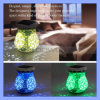 Exquisite Christmas Ceramic Blue and White Porcelain Solar Decoration Gift Lamp Light