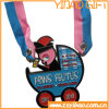 Die Casting Enamel Gold Medal with Printing Ribbon (YB-MD-66)