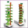 Double Plastic Rotate Floor Stand for Specialty Store (Stand 21)