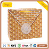 White Card Paper Yellow Diamond Shopping Bag