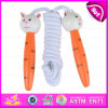 2015 Wooden Cartoon Jumping Rope for Kids, Cheap Wooden Toy Jumping Rope for Children, High Quality Jumping Rope for Baby W01A048