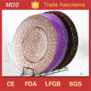 Wholesale Embossed Round Glass Dinner Plates Manufacture