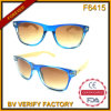 F6415 New Plastic Frames Sunglasses with Bamboo Temples