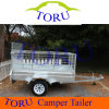 Unbraked Aluminum Box Trailer with Torsion Axle