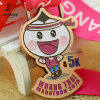 Customize Gold Zinc Alloy Bronze 5k Carton Running Medals with Enamel