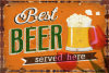 Advertising Beer Outdoor Vintage Tin Sign
